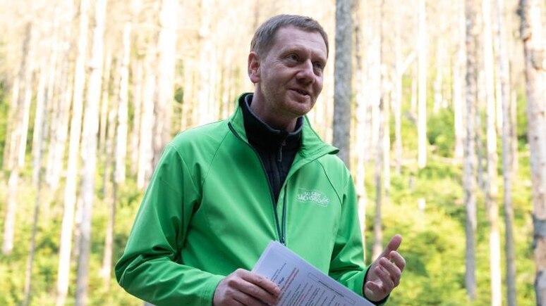 Sachsens Ministerpräsident Michael Kretschmer (CDU). Foto: Sebastian Kahnert/dpa-Zentralbild/dpa/Archiv