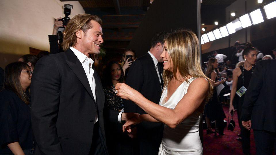 Brad Pitt und Jennifer Aniston feierten bei den SAG Awards 2020 Reunion.