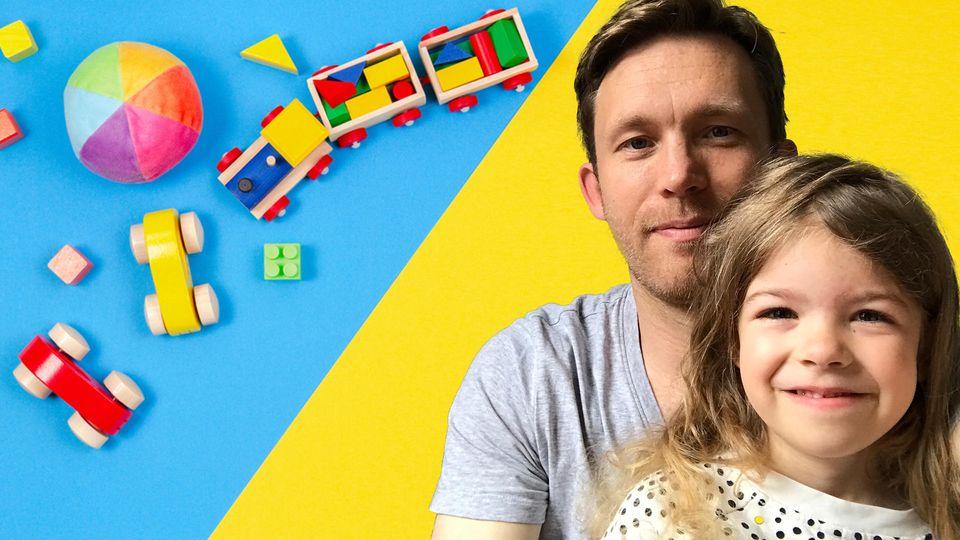 Unser Test-Duo: Papa Sebastian Priggemeier mit seiner Tochter Lene