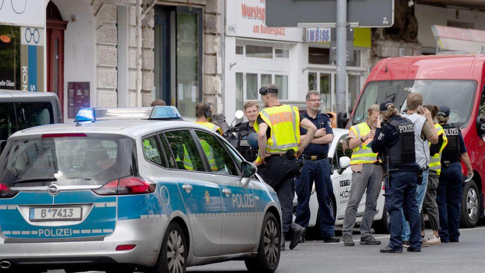 Geldtransporter in Berlin-Wilmersdorf brannte