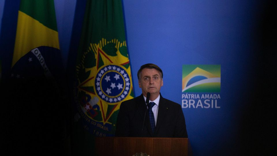 Brasilianischen Präsident Jair Bolsonaro
