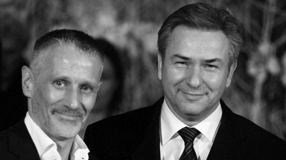 Klaus Wowereit (re., GER/SPD/Regierender Bürgermeister von Berlin) mit seinem Lebensgefährten Jörn Kubicki (GER)  anläs