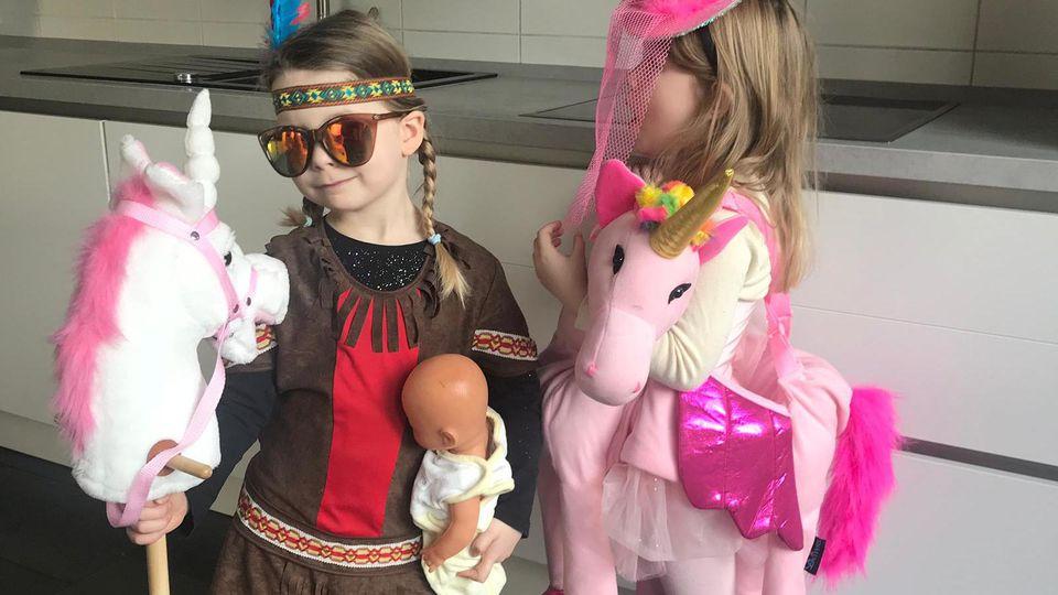 Eva Imhofs Kinder Luisa und Lilly