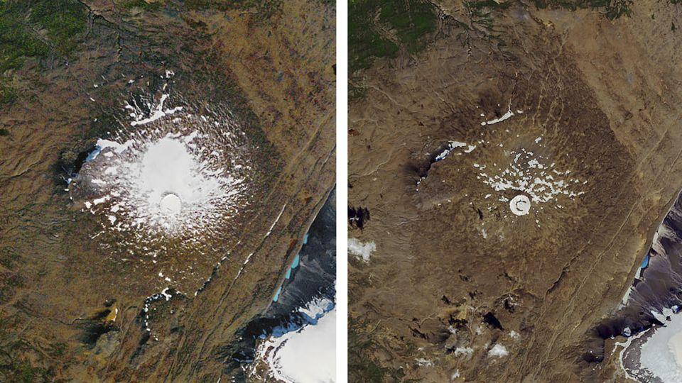 Island, Ok: Gletscher Okjökull