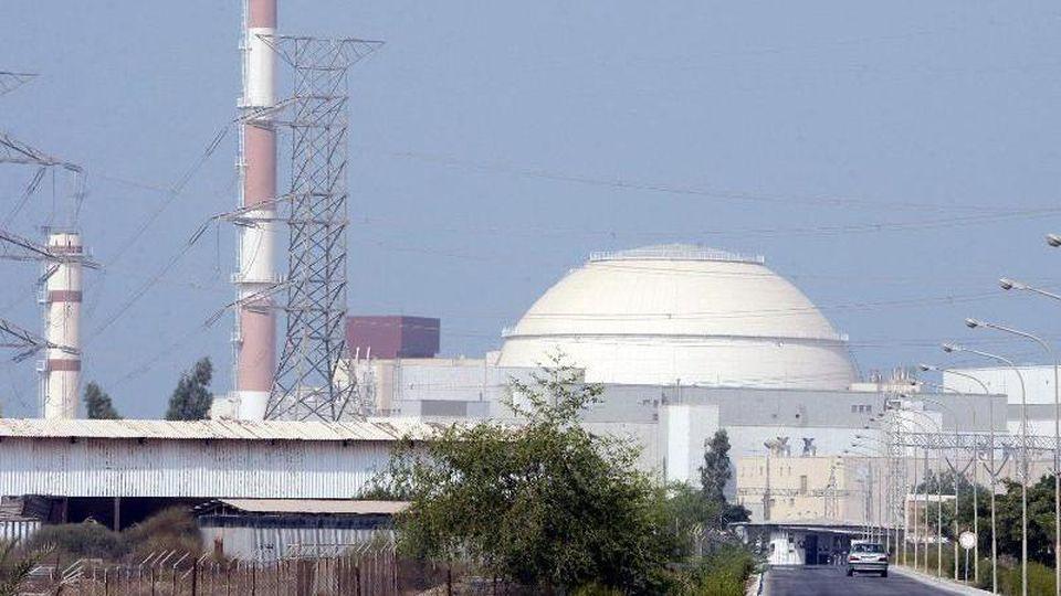 Das iranische Atomkraftwerk Buschehr: Teheran will, dass die USAerst Sanktionen gegen Iran aufhebt. bevor das Land zum Atomabkommen zurückkehrt. Foto: ABEDIN TAHERKENAREH/epa/dpa