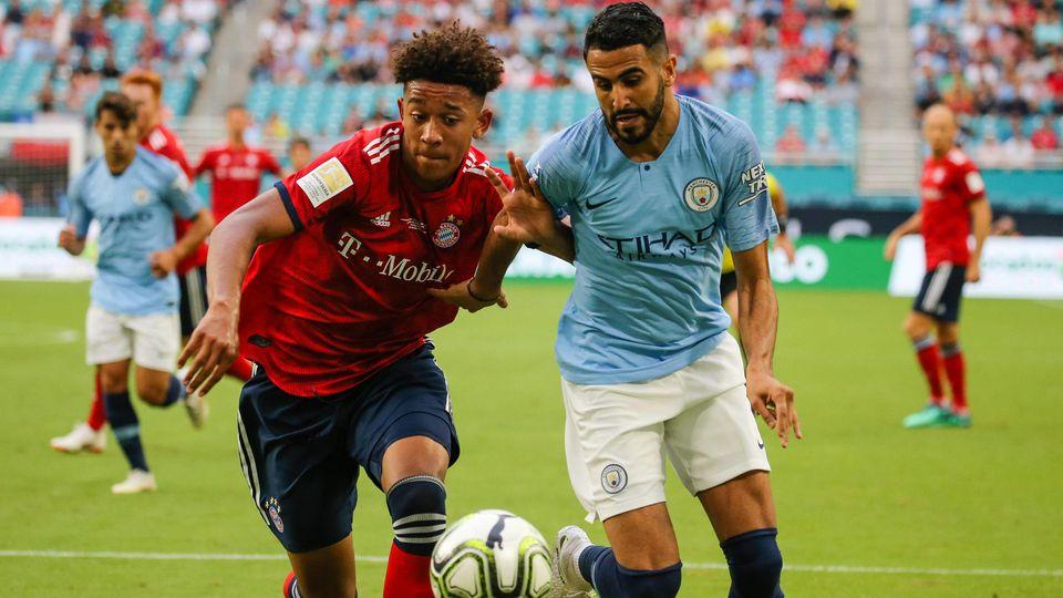 July 28 2018 Miami Gardens Florida USA Manchester City forward Riyad Mahrez 26 right fig