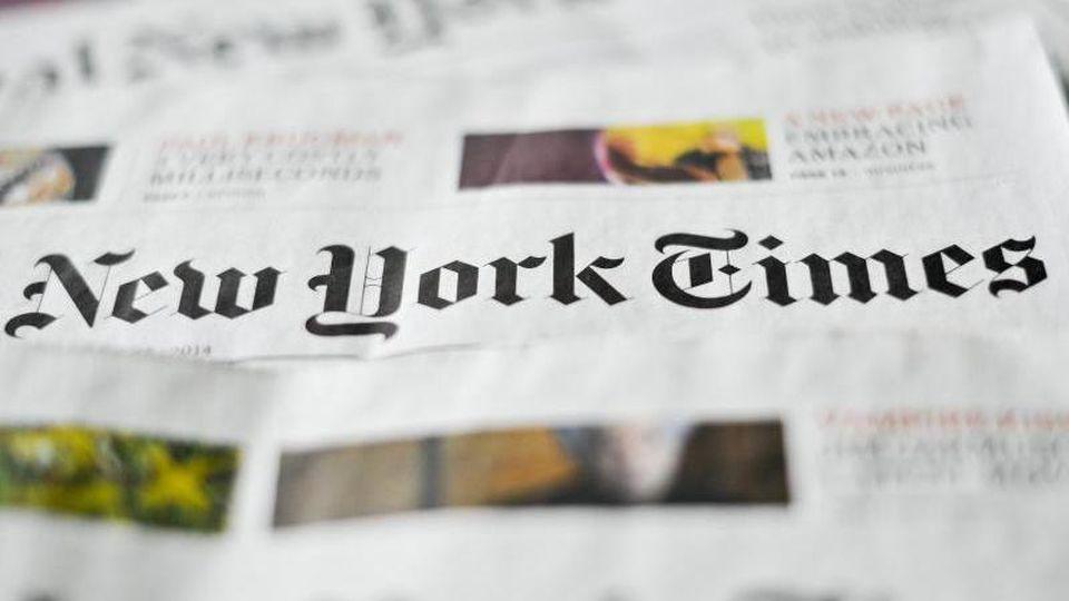 """US-Präsident Trump hat die """"New York Times"""" wegen eines Artikels über amerikanische Cyber-Übergriffe gegen Russland scharf attackiert. Foto:Ole Spata"""