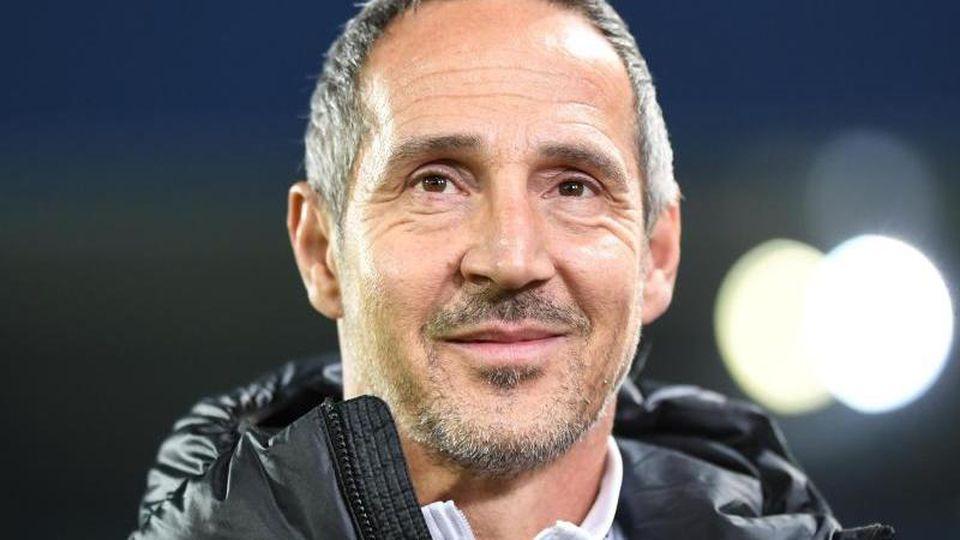 Trainer Adi Hütter von Eintracht Frankfurt. Foto: Patrick Seeger/dpa/Archivbild