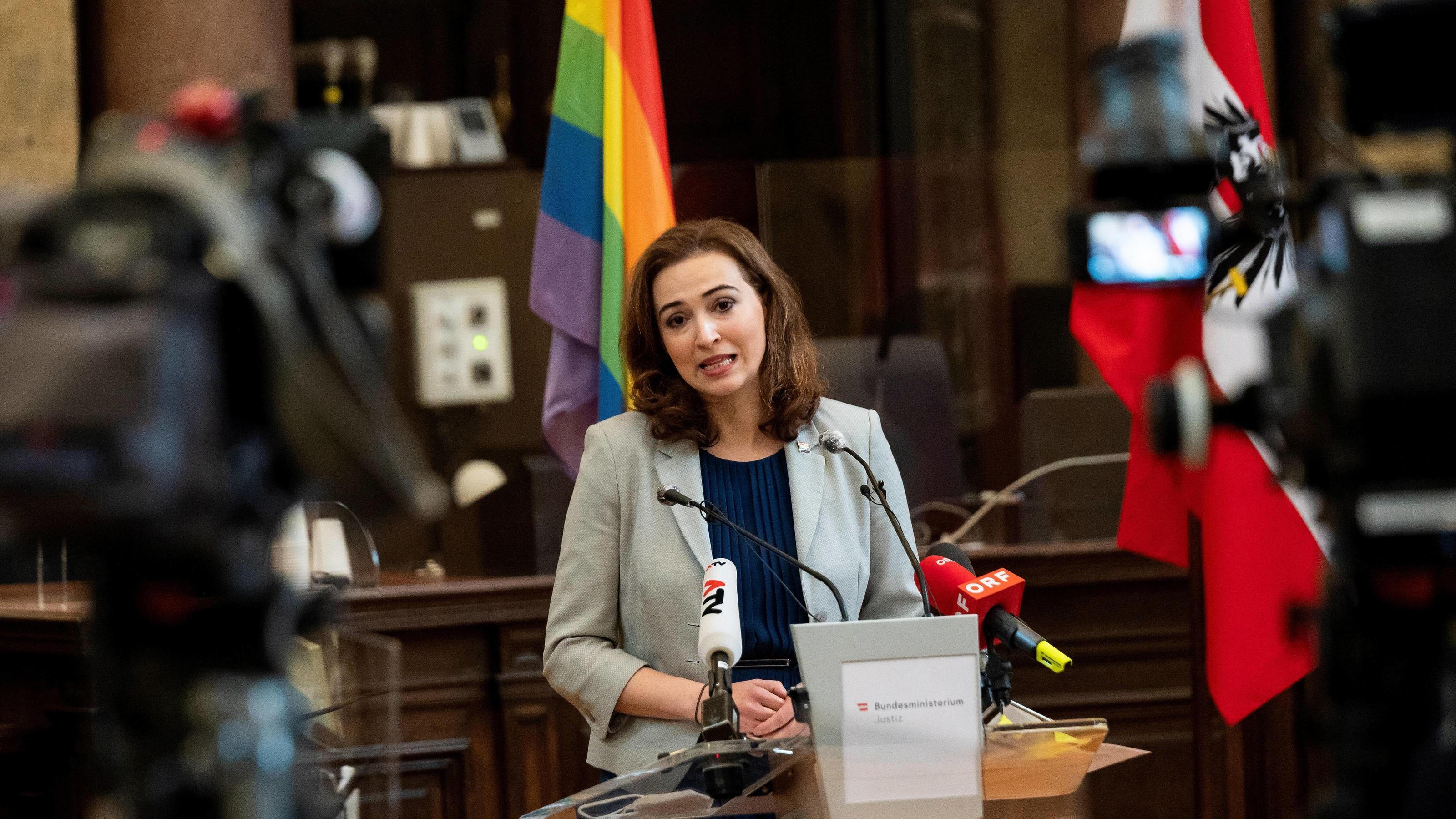 Österreichs Justizministerin Alma Zadic