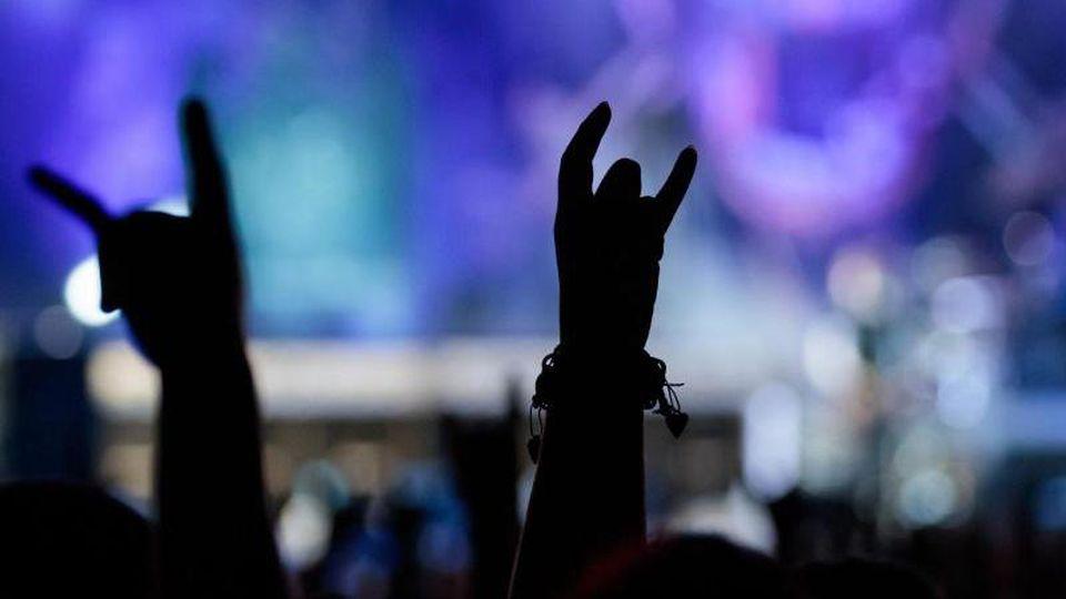 Besucher strecken ihre Hände in die Luft. Foto: Daniel Karmann/Archivbild