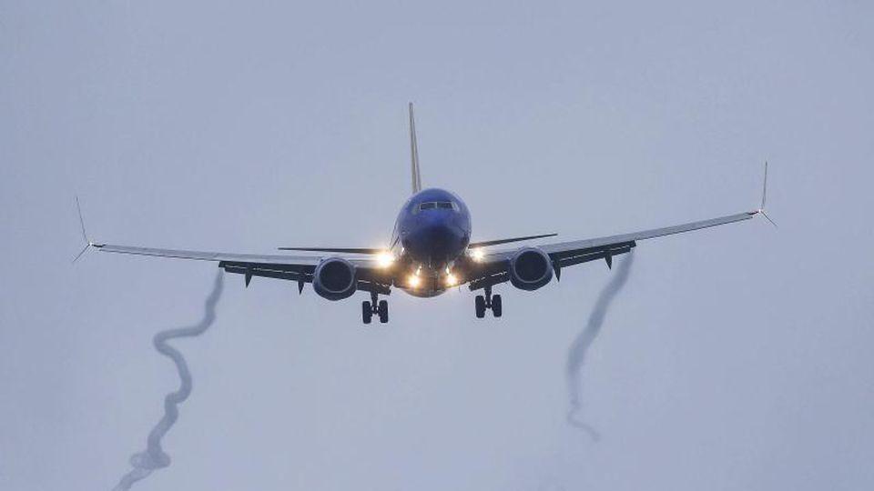 Eine Boeing 737 Max 8 der Southwest Airlines im Landeanflug auf den Hobby Airport. Das Flugzeug war bereits in der Luft auf dem Weg nach Houston, als ein Startverbot für alle Flugzeuge der 737-Max-Reihe erlassen wurde. Foto: Yi-Chin Lee