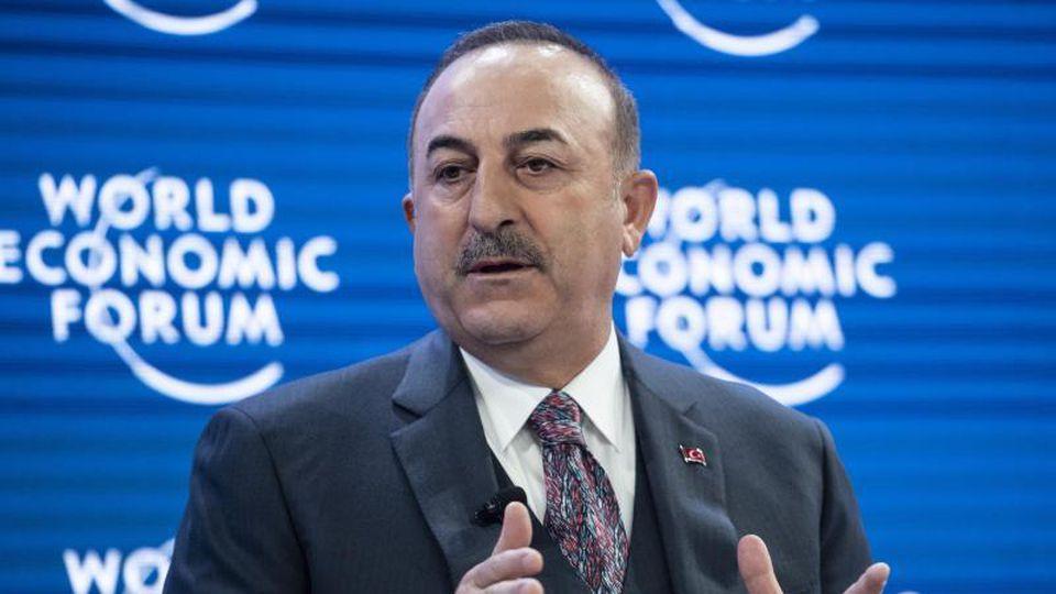 Der türkische Außenminister Mevlüt Cavusoglu beim Weltwirtschaftsforum inDavos. Foto: Alessandro Della Valle/KEYSTONE/dpa
