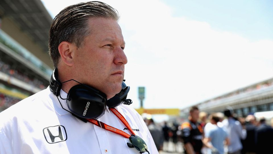 MONTMELO, SPAIN - MAY 14: McLaren Executive Director Zak Brown on the grid during the Spanish Formula One Grand Prix at Circuit de Catalunya on May 14, 2017 in Montmelo, Spain.  (Photo by Mark Thompson/Getty Images)