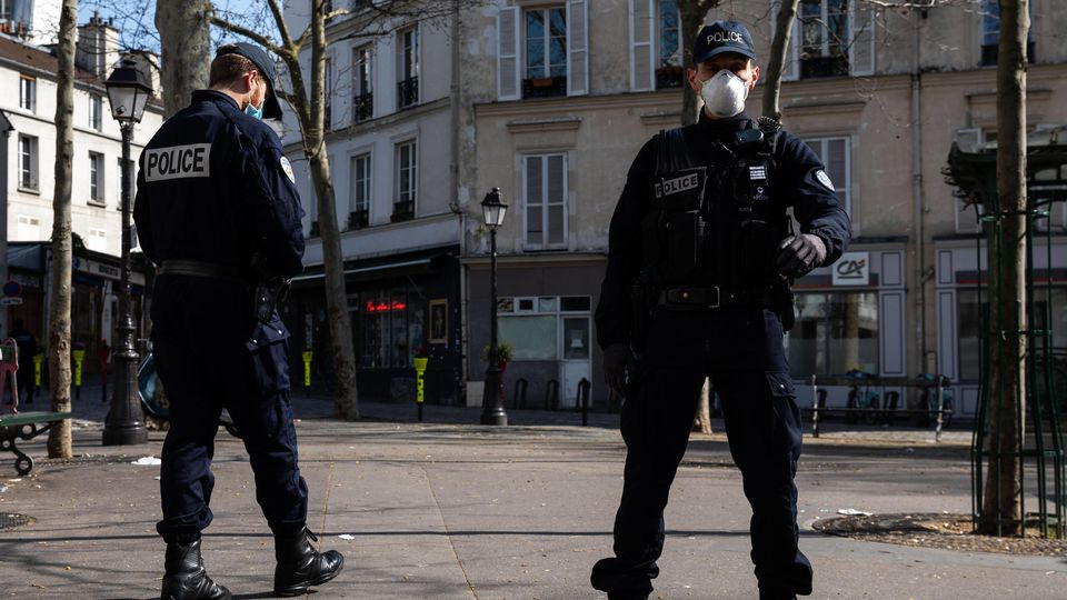 Paris, France, March 19, 2020 - Atmosphere in the streets of Paris after the head of state ordered people to stay home t