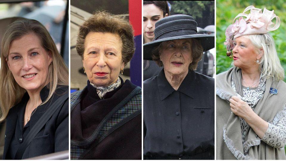 Diese vier Frauen stehen der Queen gerade besonders bei: Sophie, Gräfin von Wessex, Prinzessin Anne, Lady Pamela Hicks, Angela Kelly