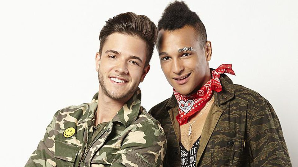 Die Sänger Luca Hänni und Prince Damien.