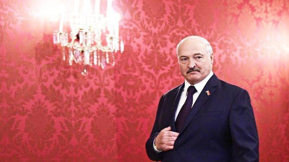 """Weißrusslands Präsident Alexander Lukaschenko: """"Es gibt hier absolut keine Katastrophe."""". Foto: Hans Punz/APA/dpa"""
