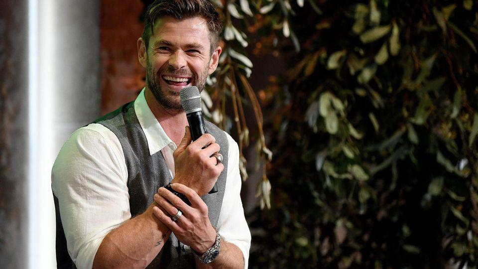 Schauspieler Chris Hemsworth freut sich über seine besondere Beziehung zu seinem Sohn Tristan.