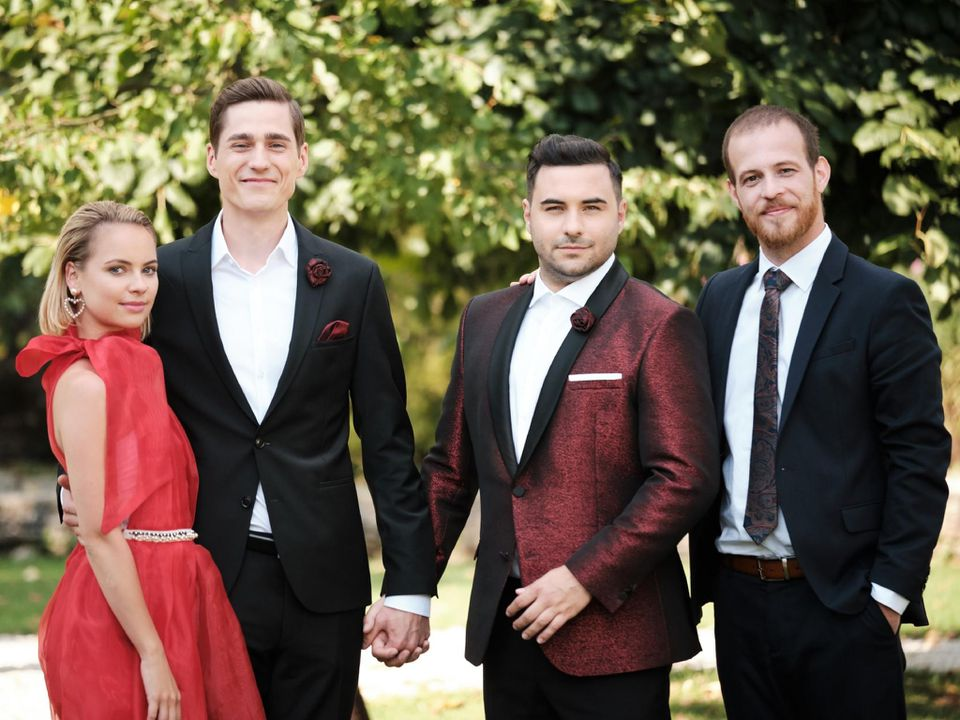 V.l.: Kira (Barbara Prakopenka), Ringo (Timothy Boldt), Easy (Lars Steinhöfel), Tobias (Patrick Müller)