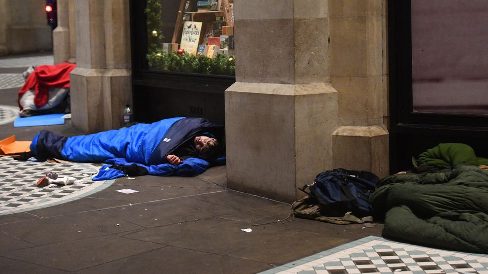 Obdachlose in London (Symbolbild)