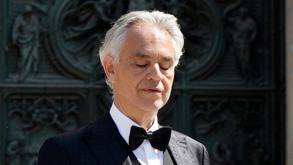 Andrea Bocelli bei seinem Auftritt am Ostersonntag 2020 in Mailand.
