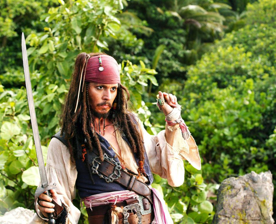 Captain Jack Sparrow in Fluch der Karibik