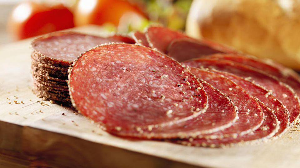 """Die Aldi-Salami """"Salame Felino"""" könnte mit Salmonellen verunreinigt sein (Symbolbild)"""