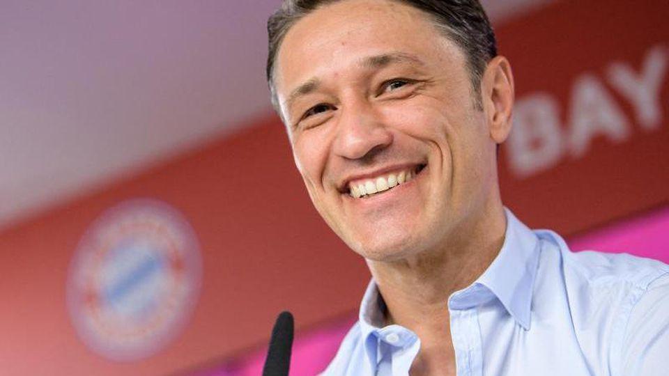 Trainer Niko Kovac vom FC Bayern München spricht im Mediencenter am Trainingsgelände an der Säbener Straße. Foto: Matthias Balk/Archivbild