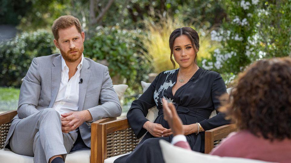 Prinz Harry und Herzogin Meghan im Interview mit Oprah Winfrey.