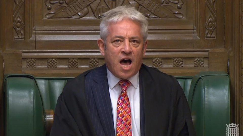 """""""Ordeeeeeeeeeeeer"""" - John Bercow, der Sprecher des Unterhauses, verwehrt Boris Johnson eine neue Abstimmung über den Brexit-Deal."""