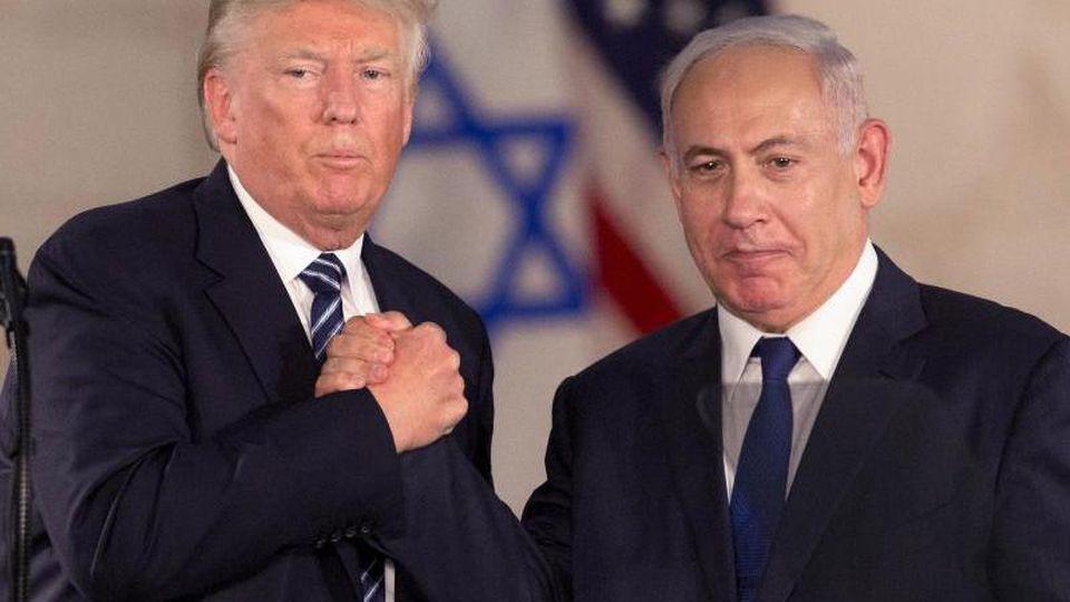 Kommen in Washington zusammen: US-Präsident Donald Trump und Israels Regierungschef Benjamin Netanjahu. Foto: Sebastian Scheiner/AP/dpa