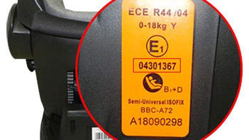 Kunden erkennen am Etikett, ob ihr Sitz betroffen ist.