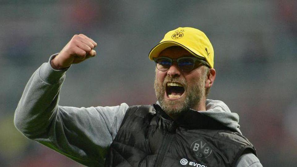 2015 war Jürgen Klopp noch Trainer von Borussia Dortmund. Foto: picture alliance / dpa