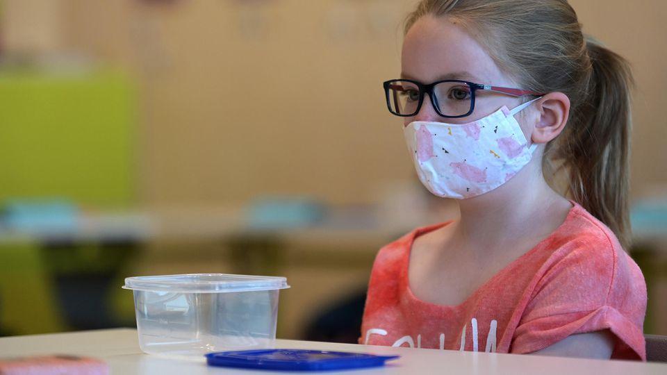 Maske im Unterricht