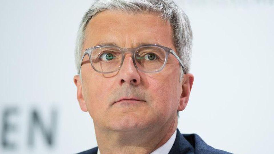 Ex-Audi-Vorstandschef Rupert Stadler nimmt an einer Bilanzpressekonferenz teil. Foto: Sebastian Gollnow/dpa/Archivbild