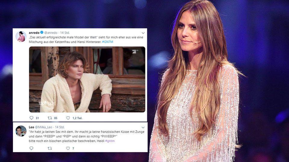Heidi Klums Meedchen amüsieren auch in Folge 3 bei GNTM wieder die Fangemeinde bei Twitter.