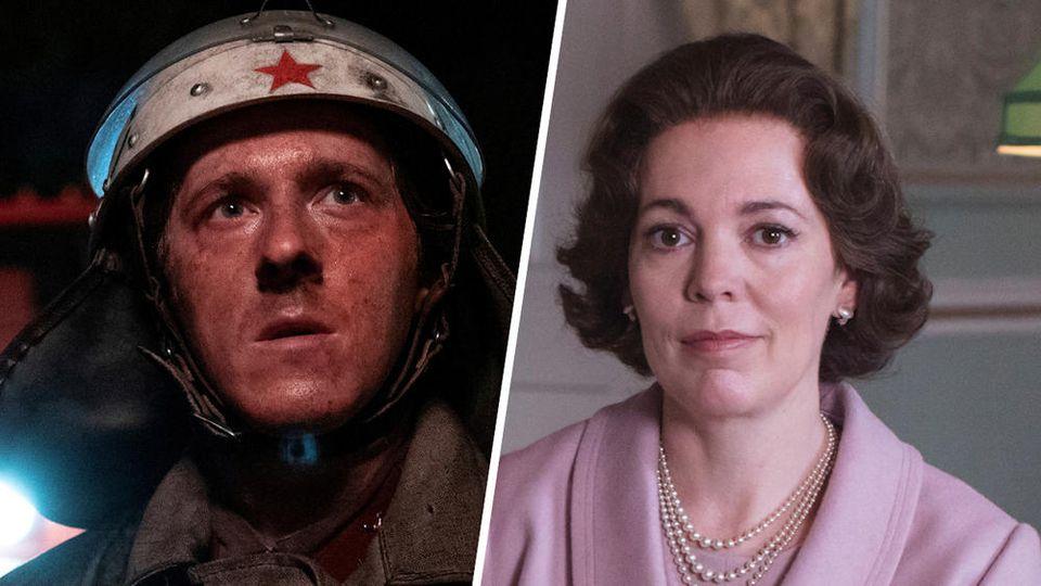 """""""Chernobyl"""" (l.) und """"The Crown"""" haben gute Chancen im Rennen um die BAFTA Television Awards"""