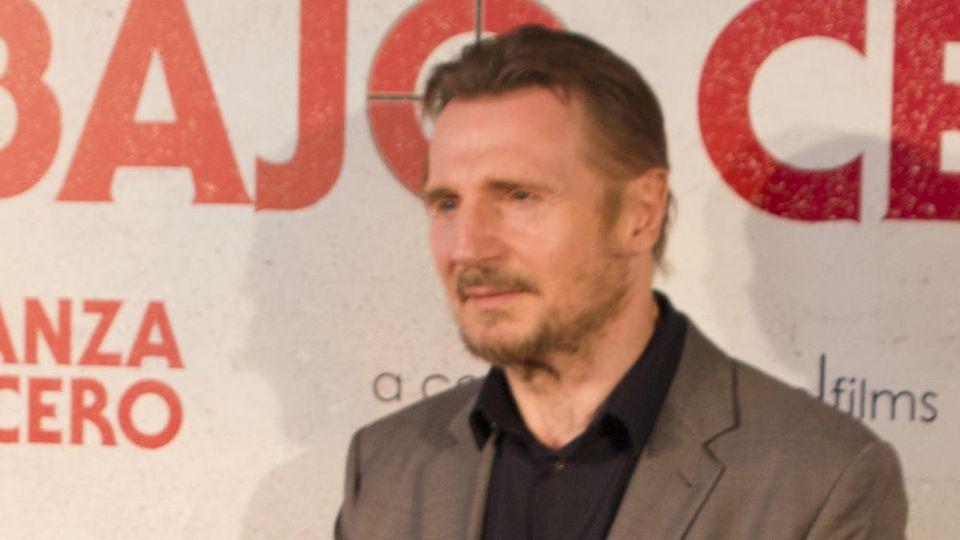 Liam Neeson bei einem Auftritt in Madrid
