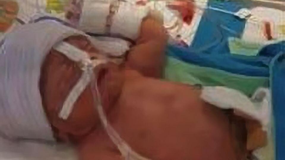 Herman ist ein echtes Überrschungsbaby: Seine Mutter Jessica Aaldering wusste nicht, dass sie schwanger war.