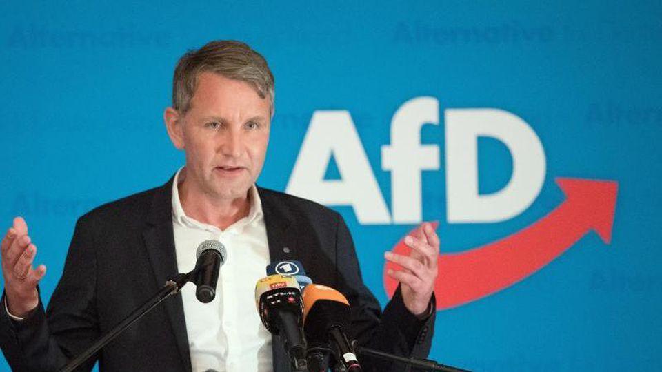 Björn Höcke, Vorsitzender der AfD in Thüringen. Foto: Sebastian Kahnert/Archivbild