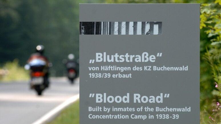 """Die """"Blutstraße"""" bei Weimar."""