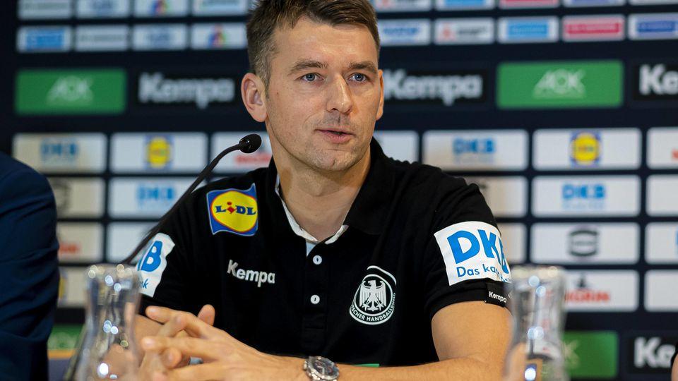 Handball, Maenner: EM 2020, Hauptrunde, Gruppe 1, Media Day - Training Deutschland Trainer Christian Prokop (Deutschland
