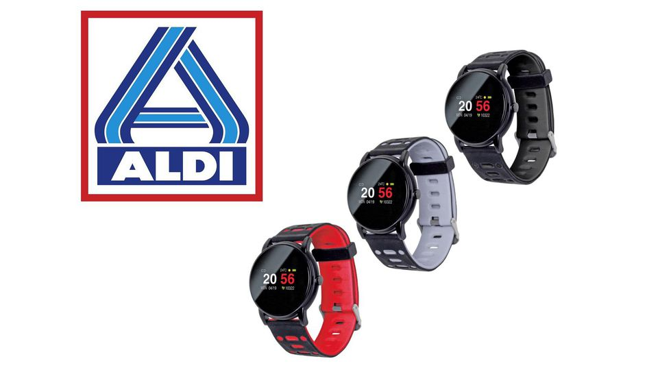 Die Smartwatch von Sempre gibt es ab dem 6.8. für 25 Euro bei Aldi.