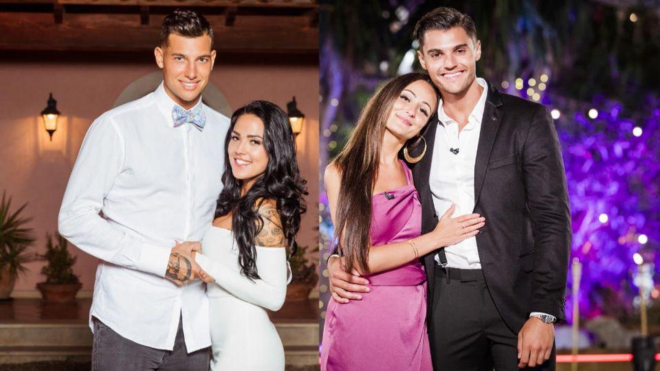 """Diese beiden Ex-""""Love Island""""-Paare hatten Glück im Spiel, aber Pech in der Liebe: Jan Sokolowsky und Elena Miras sowie Tracy Candela und Marcellino Kremers."""