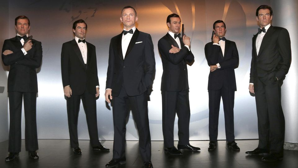 Die Wachsfiguren aller sechs James Bonds wurden 2018 im Madame Tussauds Wien ausgestellt.