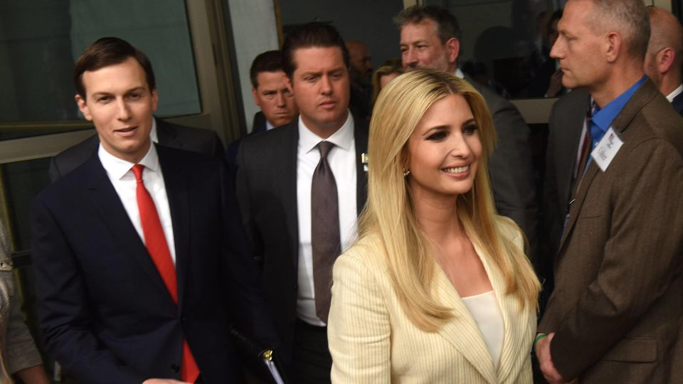 Ivanka Trump and Jared Kushner arrive to the dedication ceremony of the American Embassy in Jerusalem, May 14, 2018. PUBLICATIONxINxGERxSUIxAUTxHUNxONLY JER2018051408 DEBBIExHILL