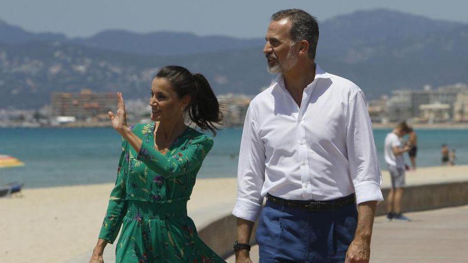 Um den Tourismus zu fördern, war das spanische Königspaar schon Ende Juni auf Mallorca gewesen. Foto: Isaac Buj/EUROPA PRESS/dpa