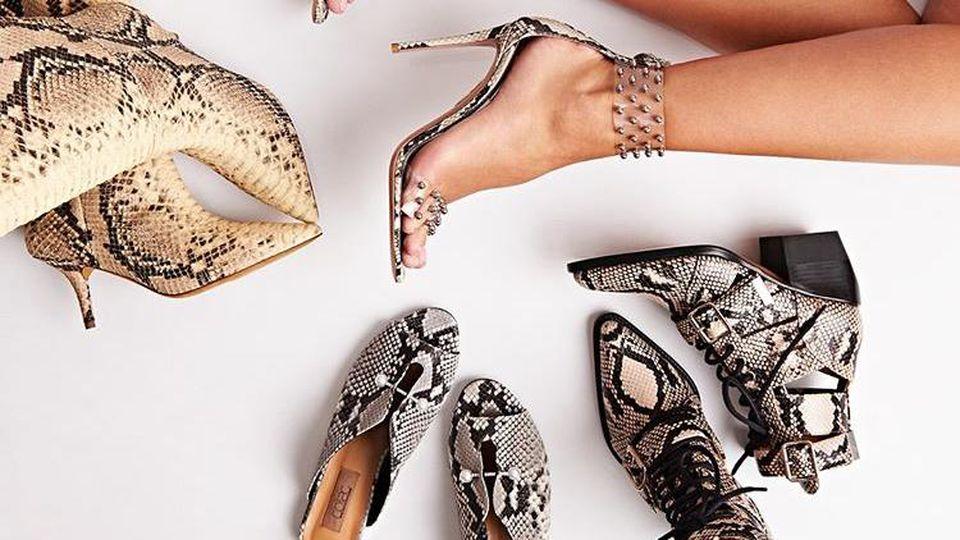Schuhe mit Animal Print