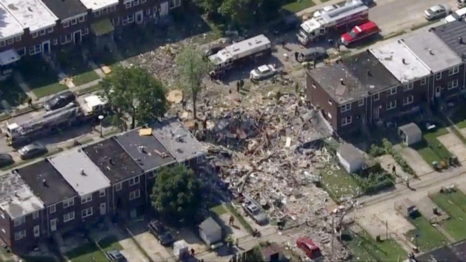 Drei Häuser sind von der Explosion betroffen