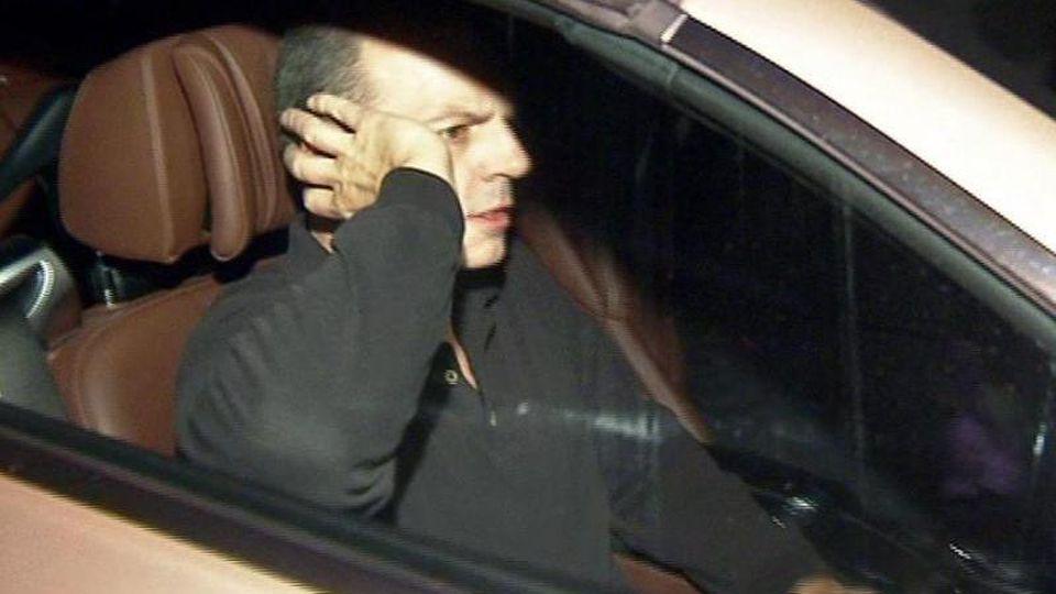 Thomas Drach, verurteilter Reemtsma-Entführer, sitzt im Auto. Foto: TV News Kontor/dpa